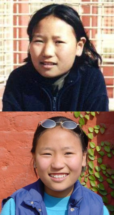 008 Tsering Lhamo in 2000 and 2001